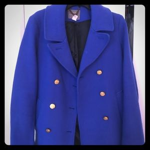 J Crew Blue Pea Coat